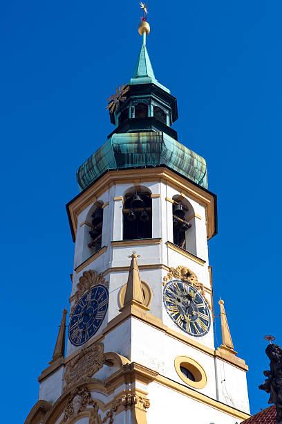 Belfry of the church  Loreta stock photo
