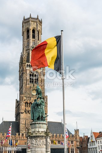 Belgium, Benelux, Europe, Bruges, Bell Tower - Tower