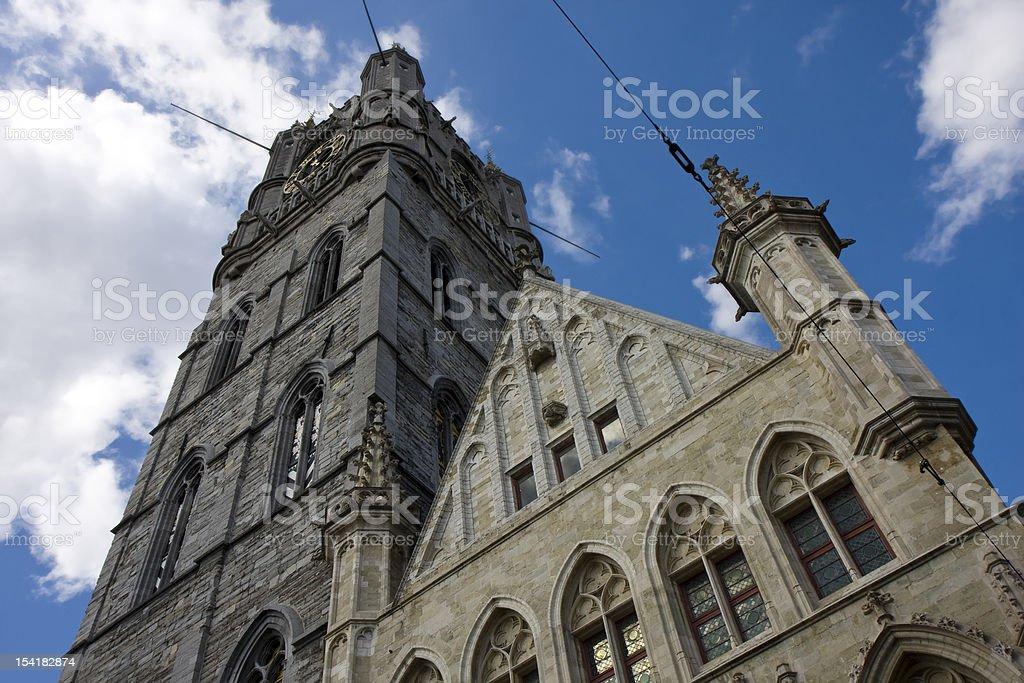 Belfry tower in Gent, Belgium stock photo