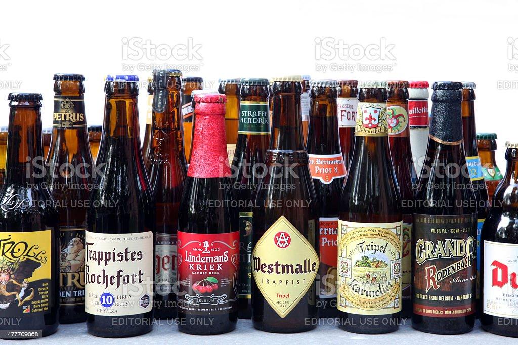 Belgian Beer Bottles Variety stock photo