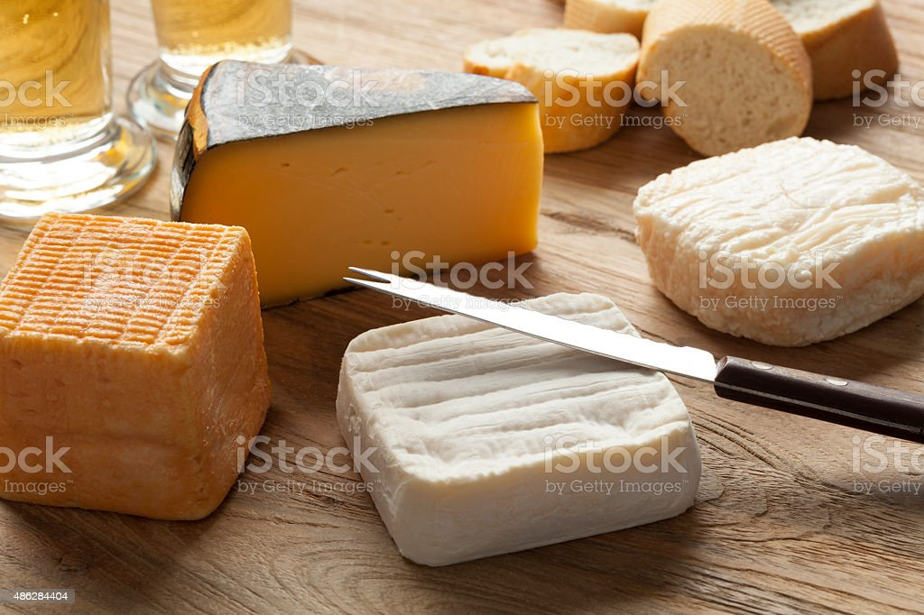 Belgian cheese board stock photo