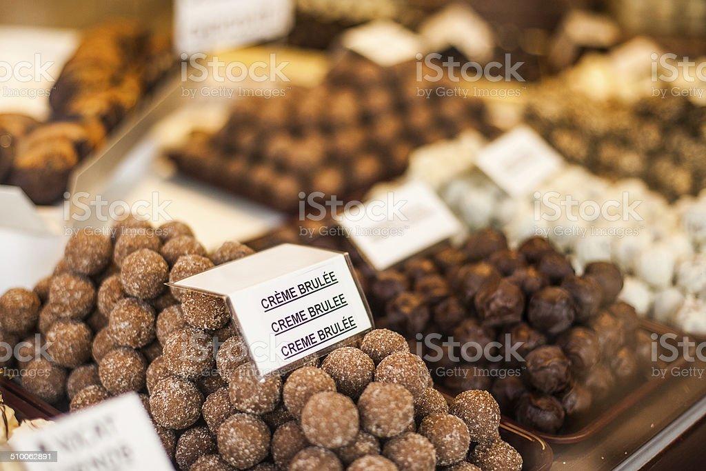 Belgian chocolate stock photo