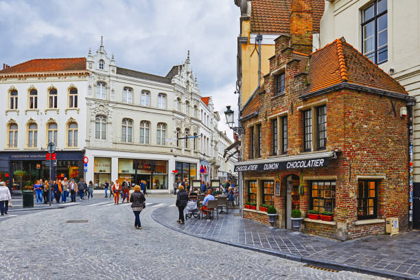 Tienda de chocolate belga - foto de stock