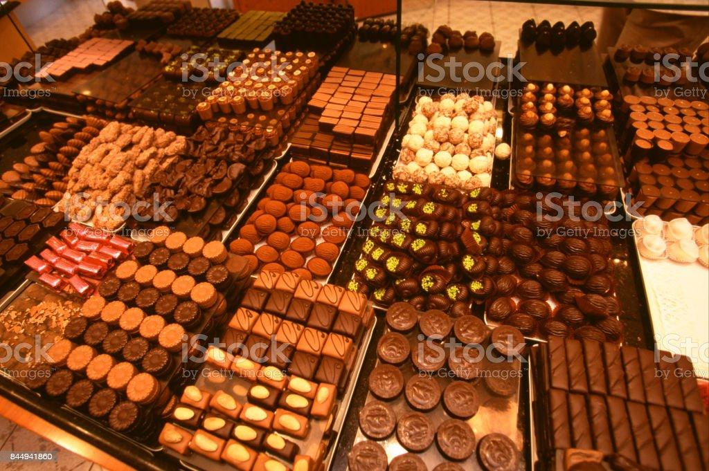 chocolates belgas - foto de acervo
