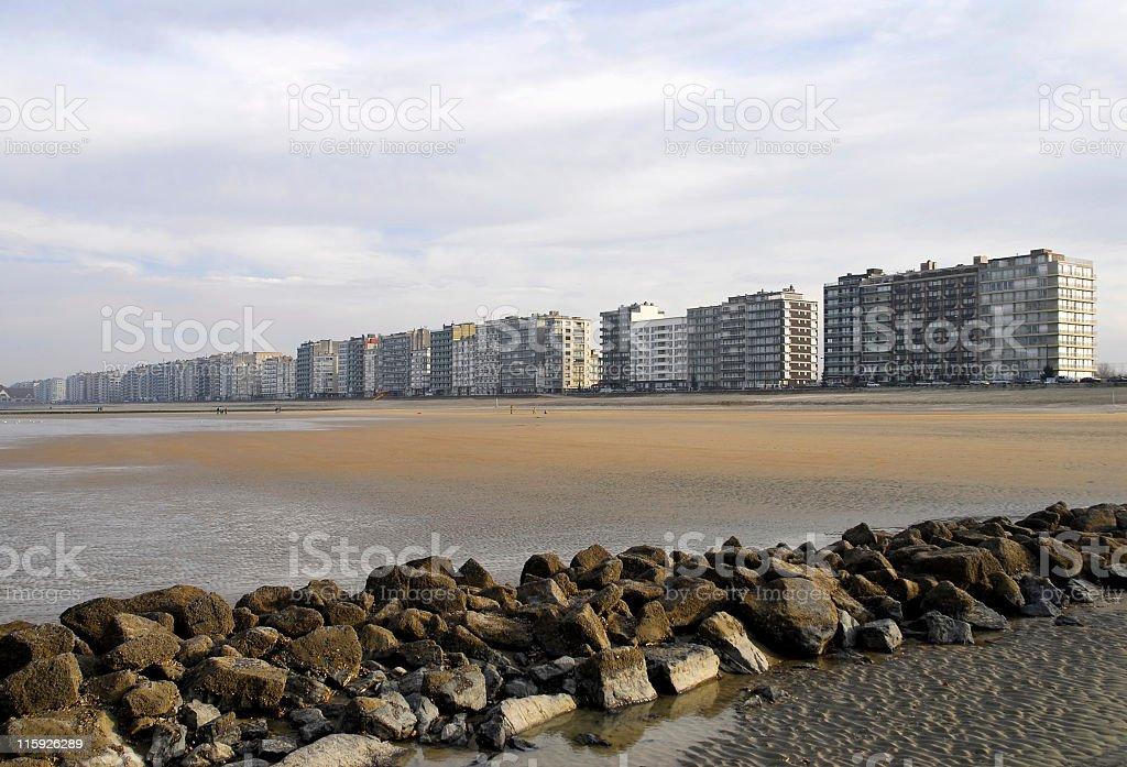 Belgian coastline stock photo