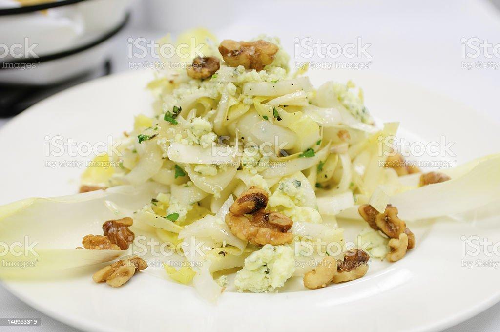 Belgian endive salad stock photo