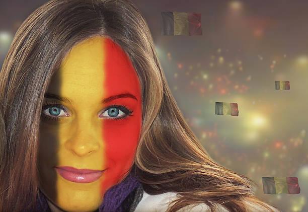 Belgian fan patriot stock photo