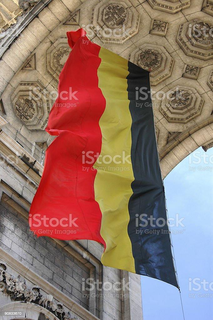 Bandeira Belga no Cinquantenaire - foto de acervo
