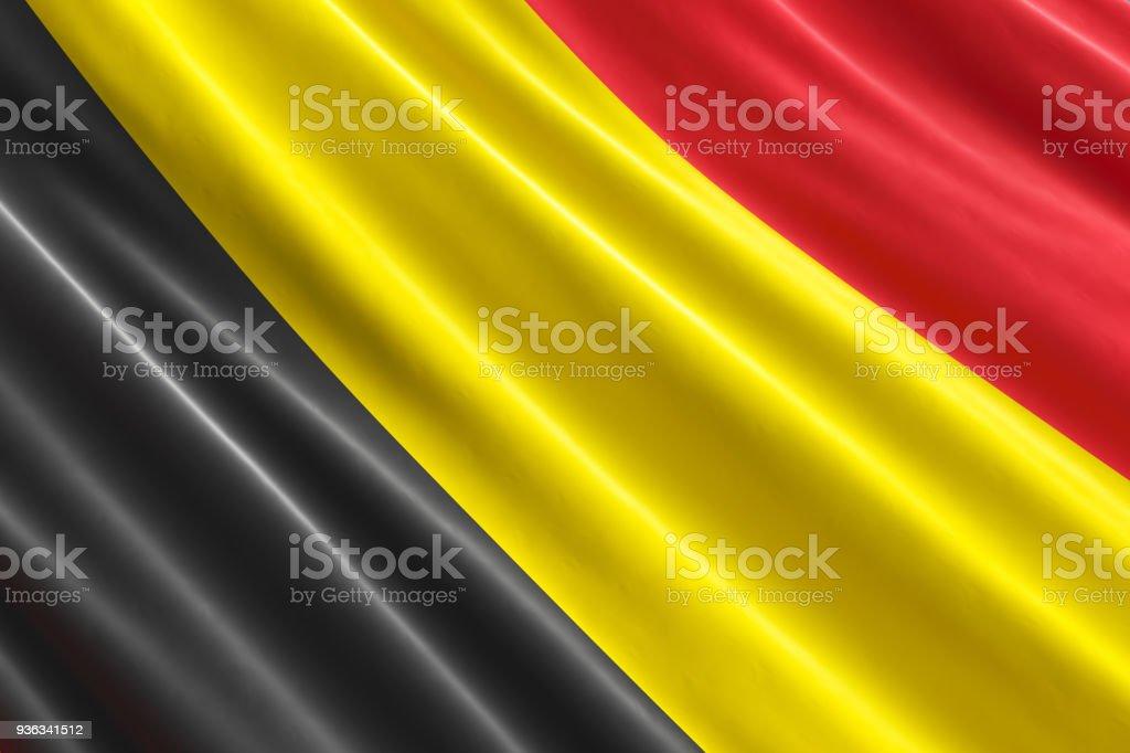 Fondo de bandera belga, 3D rendering - foto de stock