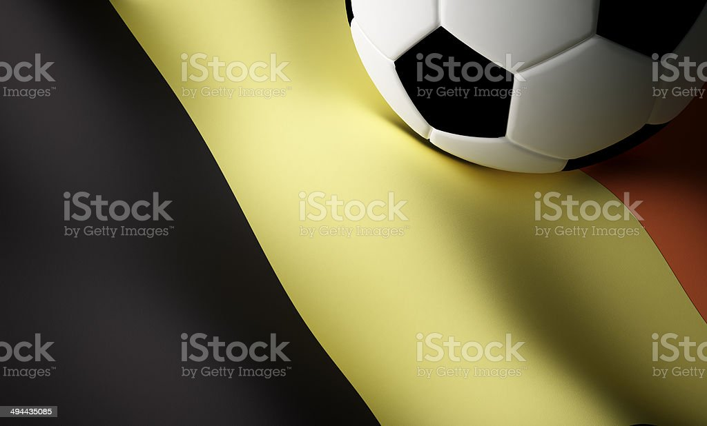 Belgian flag, football stock photo
