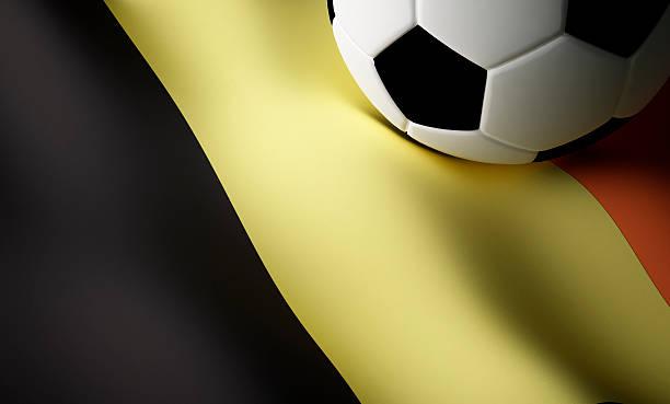 Belgian flag, football stock photo