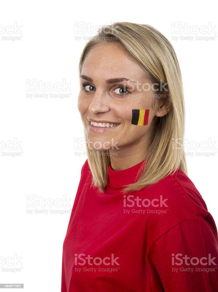Belgian Girl stock photo