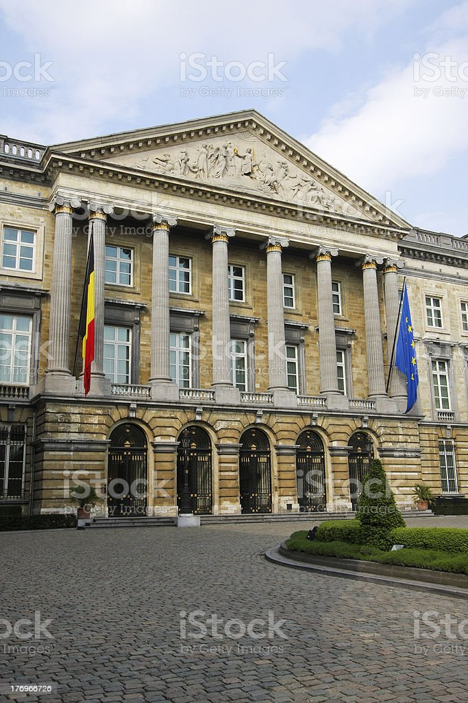 Belgian parliament in Brussels royalty-free stock photo