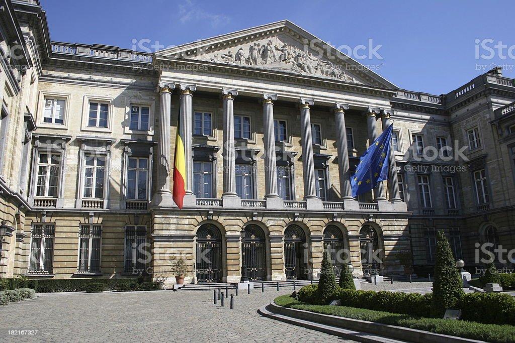 Belgian Parliament stock photo