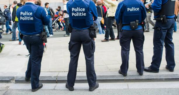 Belgian Police stock photo