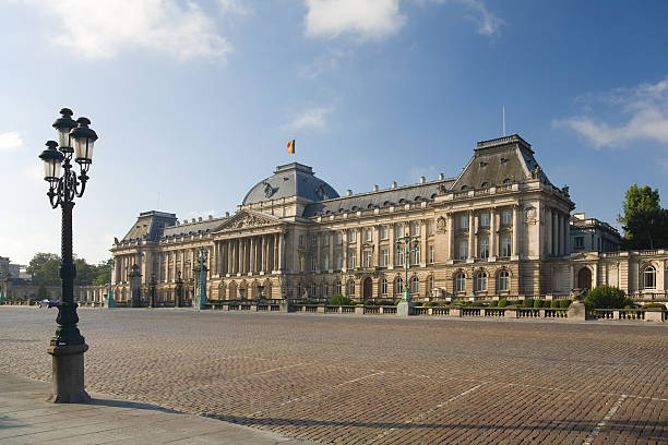 Belgian Royal palace in Brussels stock photo