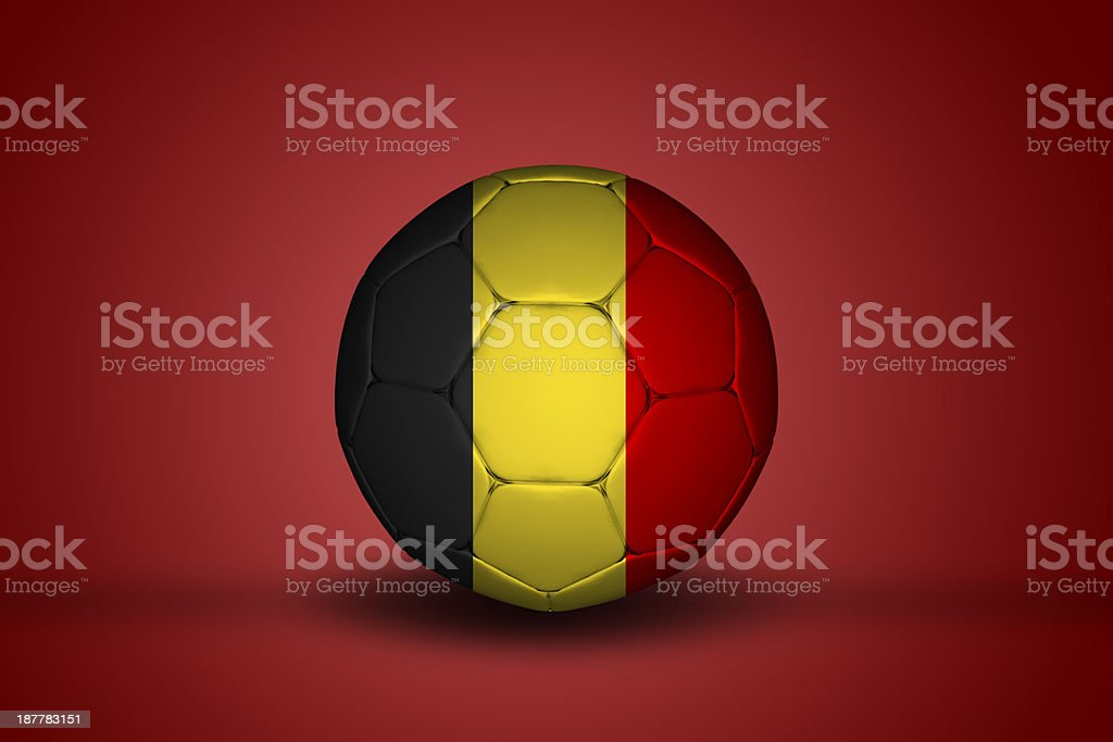 Belgian soccer bal stock photo