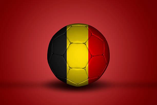 Belgian soccer bal stock photo
