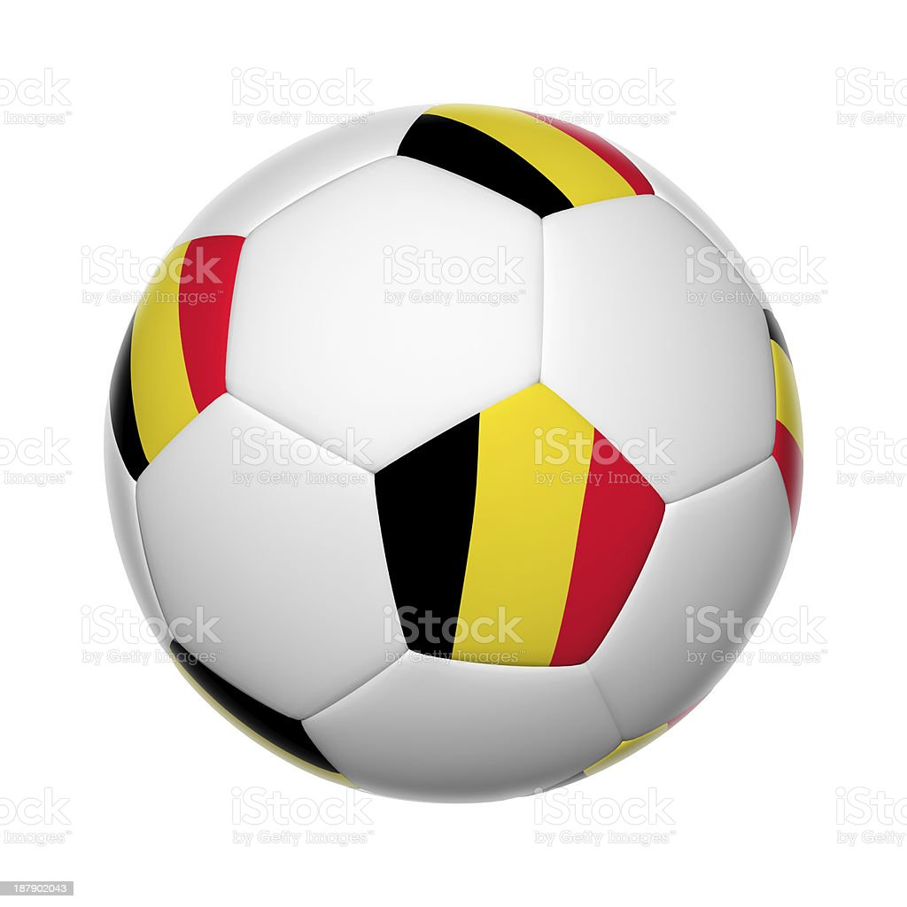 Belgian soccer ball stock photo