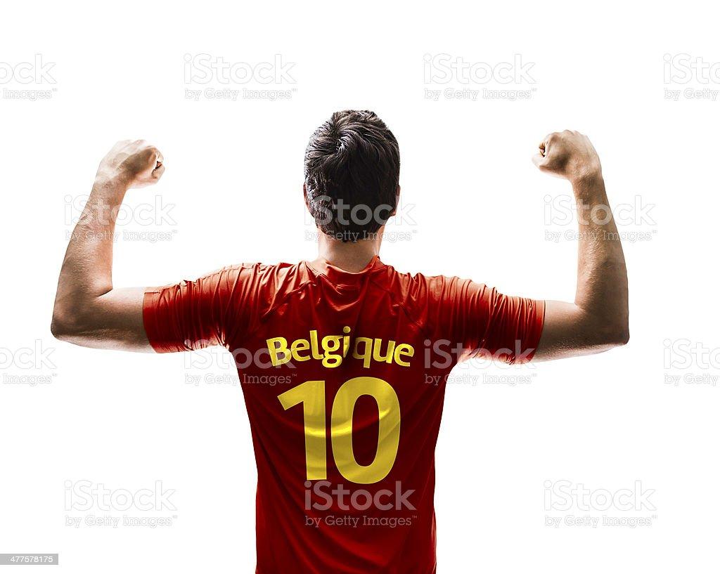 Belge Joueur de football anglais célèbre sur fond blanc - Photo