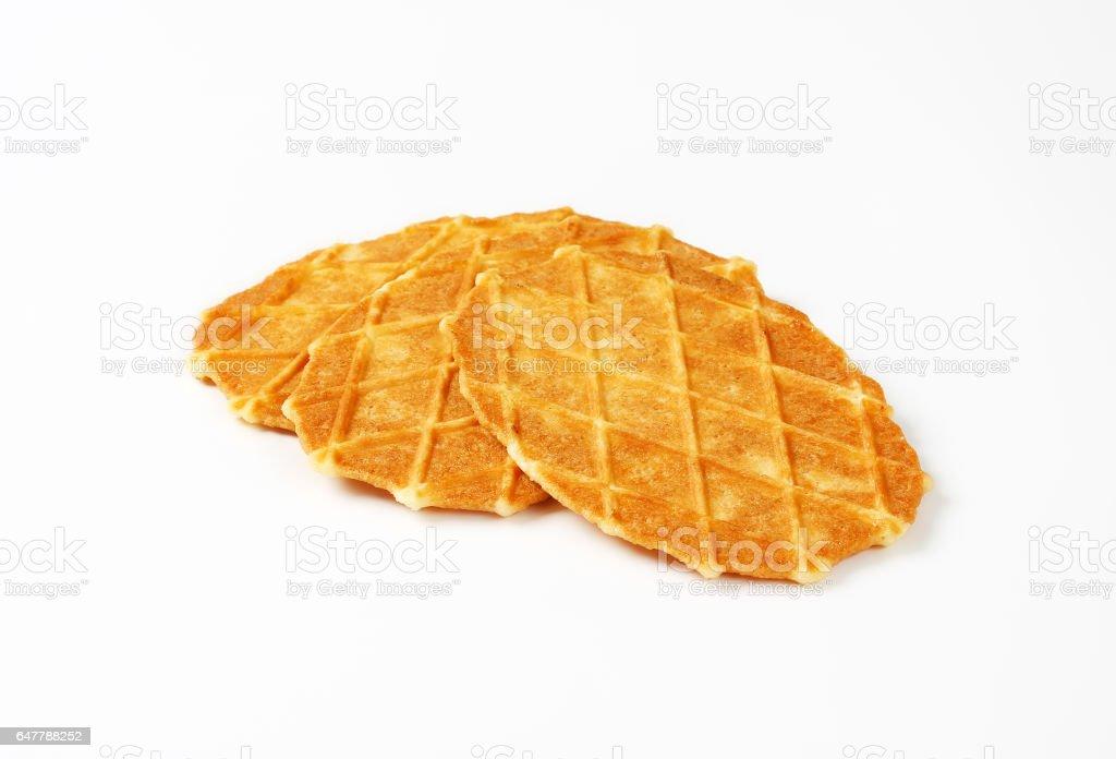 Chips de beurre gaufre belge - Photo