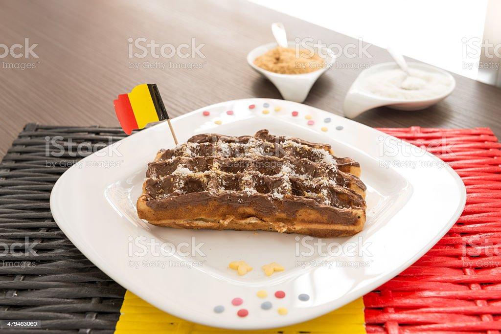 waffle belga - foto de acervo
