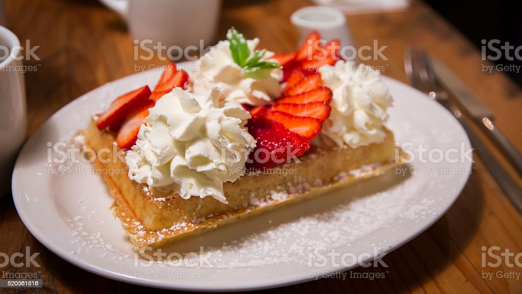 Belgian Waffles stock photo