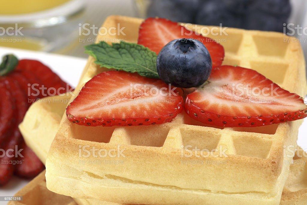 belgian waffles royalty-free stock photo