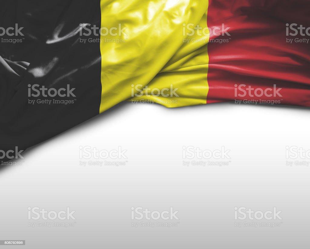 Bandera que agita belga - foto de stock