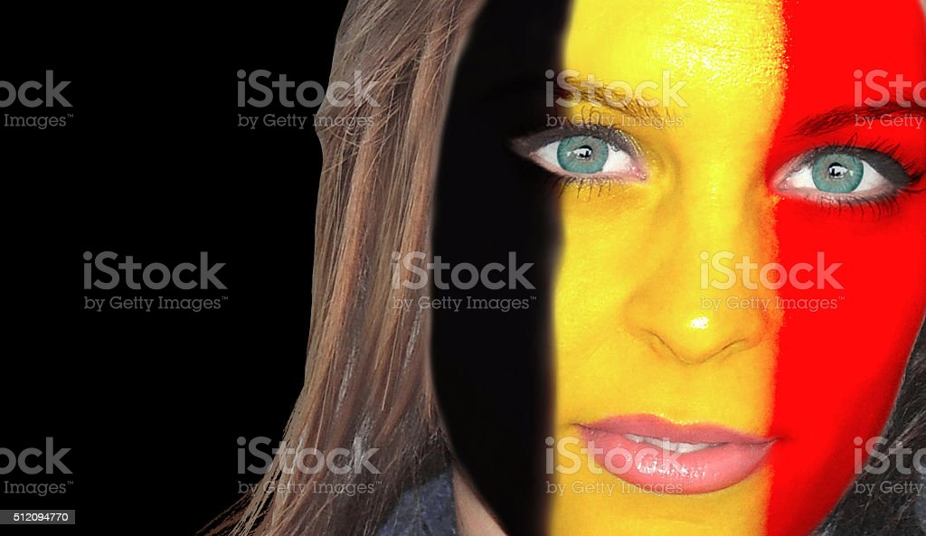 Belgian woman portrait stock photo