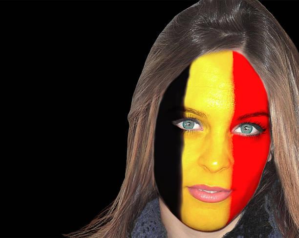 Belgian woman portrait stock photo