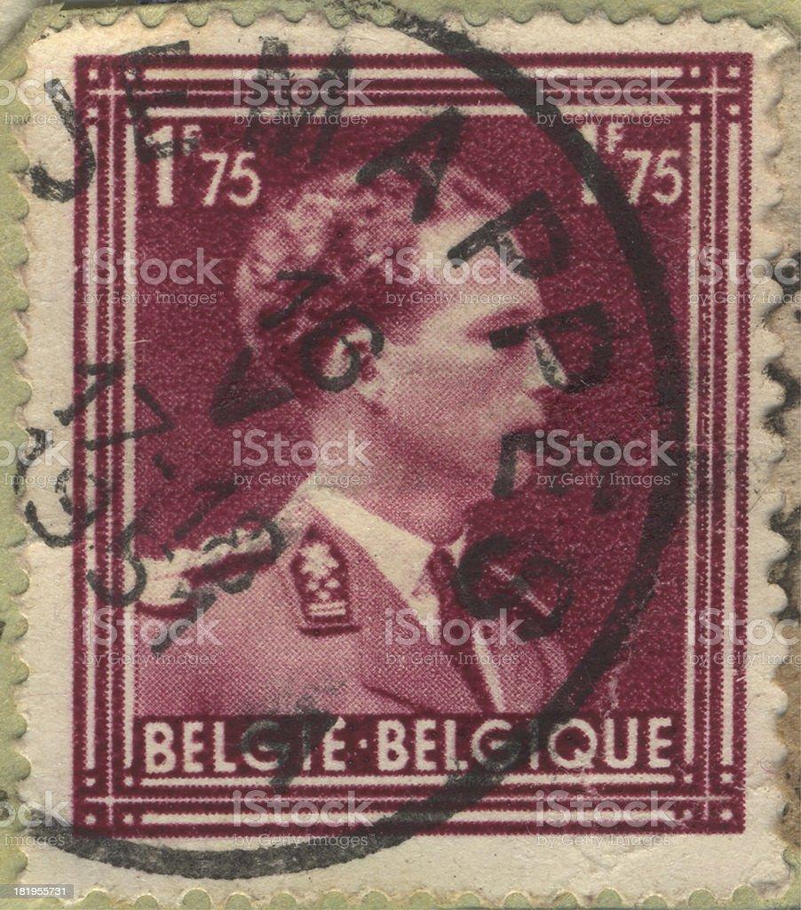 STAMP Belgie-Belgique 1.75 royalty-free stock photo
