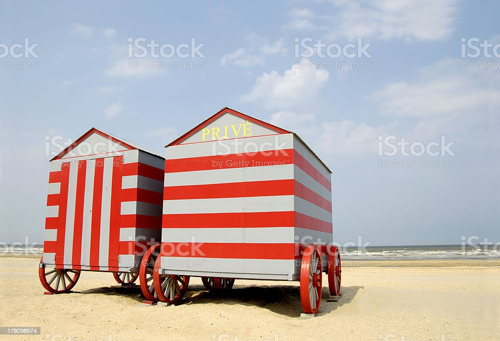 Belgium beach cars royalty-free stock photo