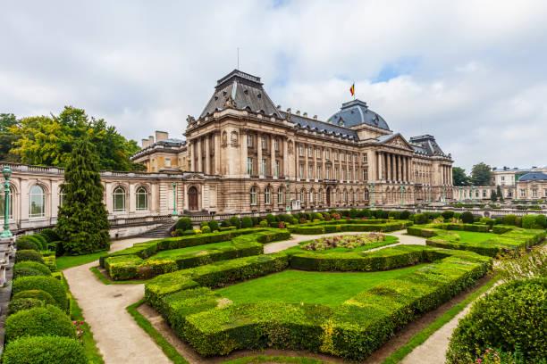 Belgium, Brussels - The Royal Palace stock photo