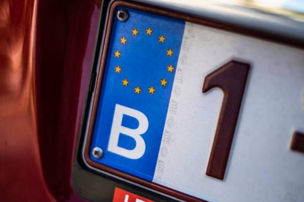 Belgium Car Plate stock photo