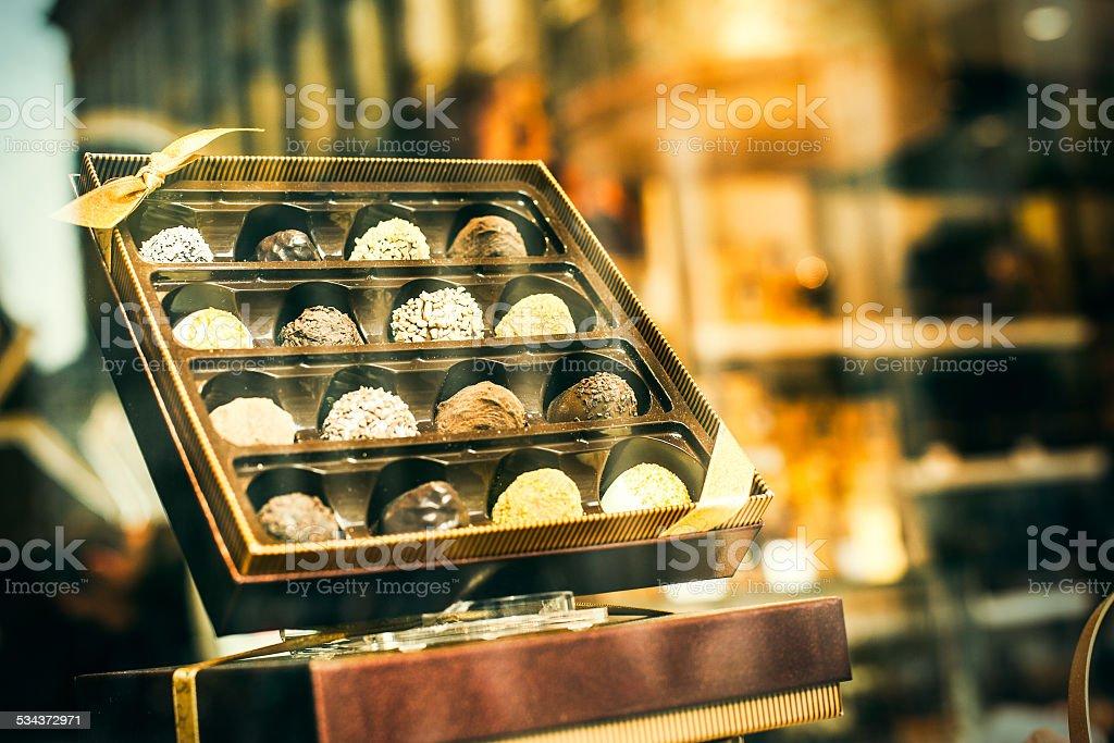 Belgium chocolate stock photo