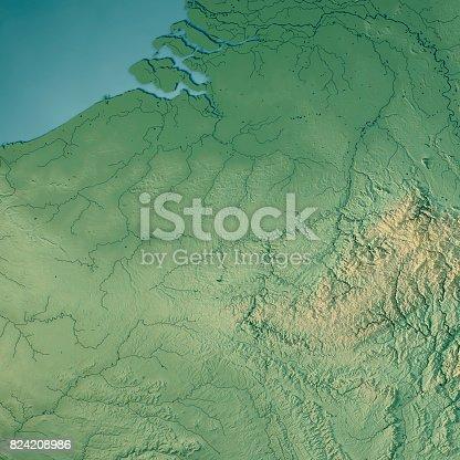 Belgium Topographic Map.Belgium Country 3d Render Topographic Map Stock Photo More