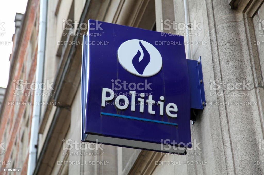 Signe de la Belgique Federale Politie - Photo