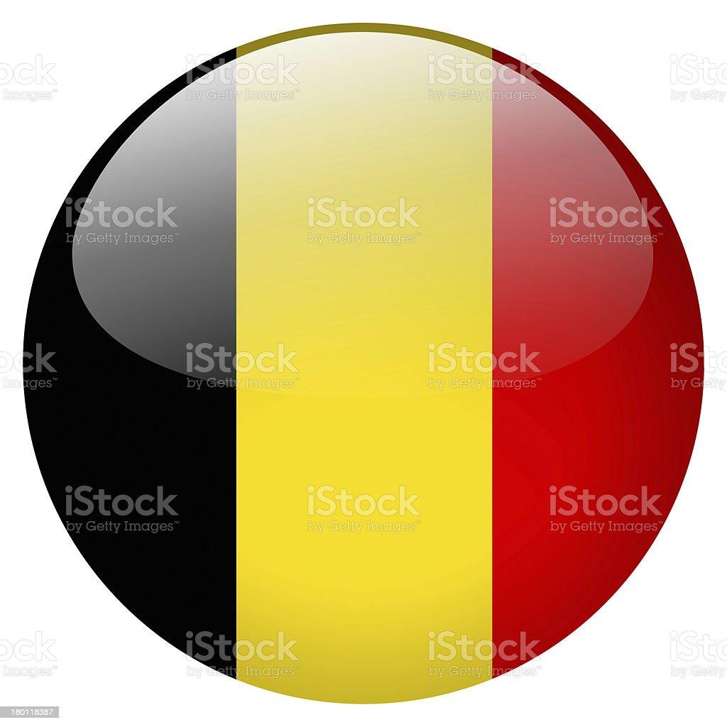 Bandera, botón de Bélgica - foto de stock