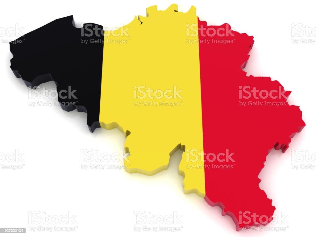 België vlag kaart foto
