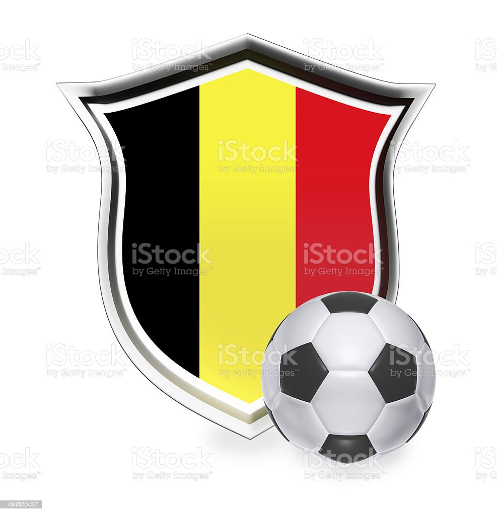 Belgium Flag with Soccer Ball stock photo