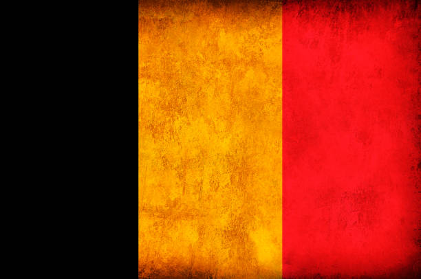 Drapeau de Grunge de Belgique - Photo