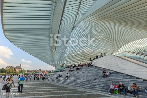Liège-Guillemins railway station is the main station of the city of Liège, Belgium. It was officially opened on 18 September 2009. People.