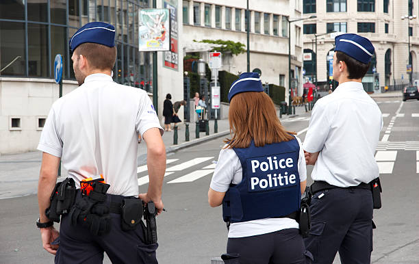 Belgium Police stock photo