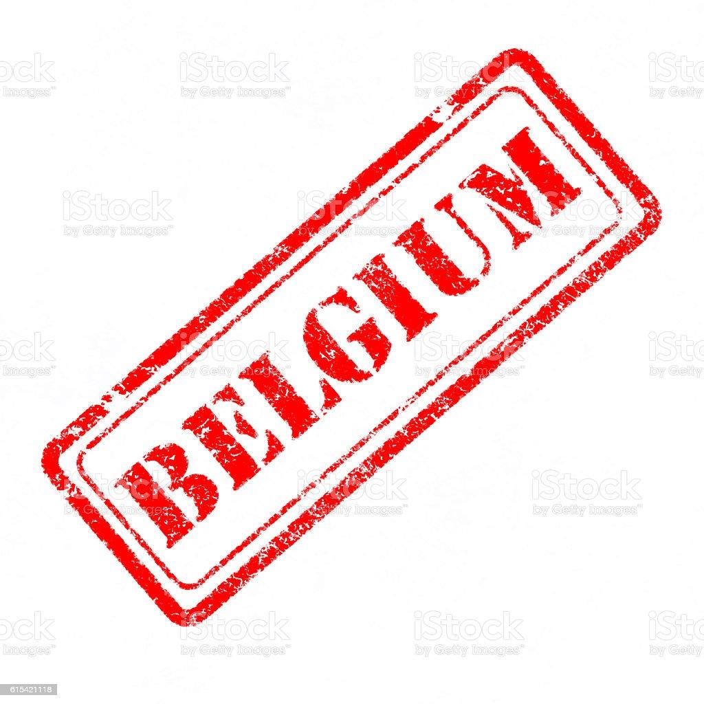 Belgium rubber stamp stock photo