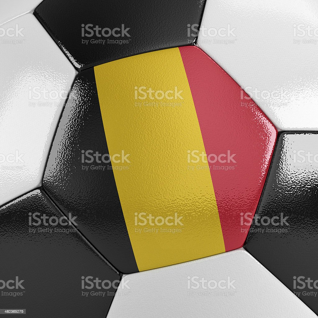 Belgium Soccer Ball stock photo