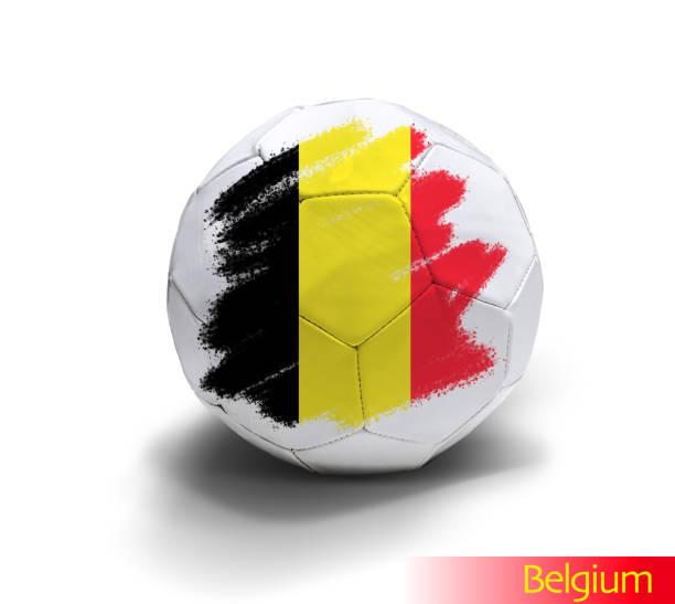 Belgium soccer ball stock photo