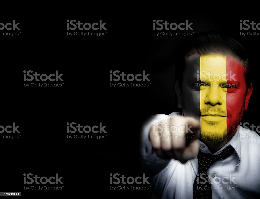 Belgium Soccer Fan royalty-free stock photo