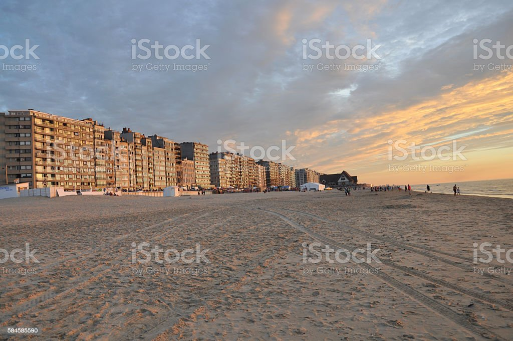 Belgium – Sunset at the North Sea coast foto