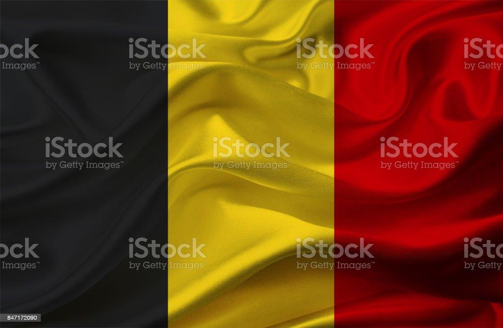 Bandera belga Saludar con la mano - foto de stock